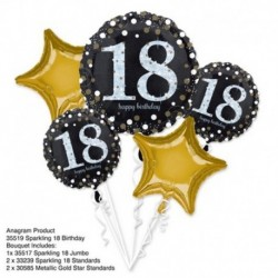 5 Palloni Bouquet Birthday 18 Anni