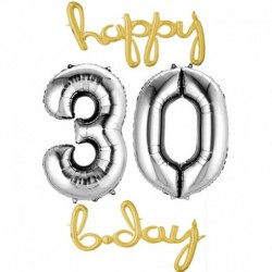 Set Palloni 30 Anni Oro Argento