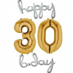 Set Palloni 30 Anni Argento oro