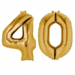 Set Palloni 40 Anni Oro 90 cm
