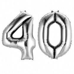 Set Palloni 40 Anni Argento 90 cm