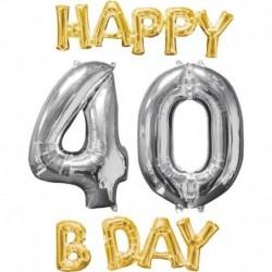 Set Palloni 40 anni Oro Argento