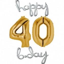 Set Palloni 40 anni Argento Oro