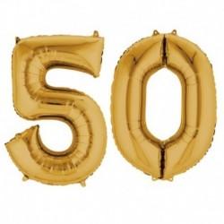 Set Palloni 50 Anni Oro 90 cm