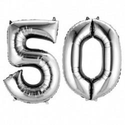 Set Palloni 50 Anni Argento 90 cm