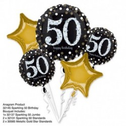 5 Palloni Bouquet Birthday 50 Anni
