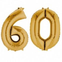 Set Palloni 60 Anni Oro 90 cm