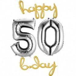 Set Palloni 60 anni Oro Argento