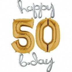 Set Palloni 60 anni Argento Oro