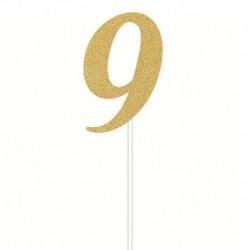 Deco Torta Numero 9 Oro 15 cm