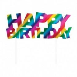 Deco Torta Happy Birthday 15x17 cm