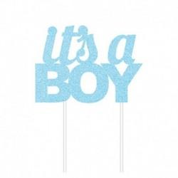 Deco Torta It's a Boy Azzurro 20x17 cm