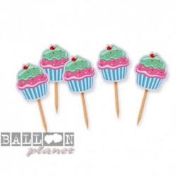 25 Picks Cupcake 4,5x6,5 cm