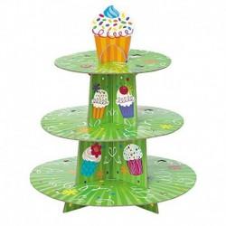 Porta Cup Cake Verde 30x35 cm