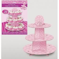 Porta Cup Cake Rosa 30x35 cm