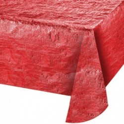 Tovaglia Metal Rossa 137x254 cm