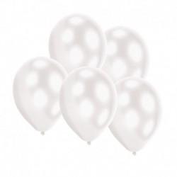 5 Palloncini Led Bianco 27 cm