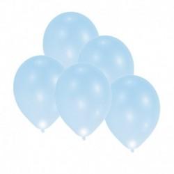 5 Palloncini Led Azzurri 27 cm