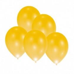 5 Palloncini Led Oro 27 cm