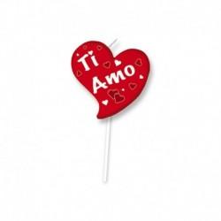 Candelina Picks Ti Amo 10 cm