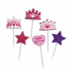 6 Candeline Picks Princess 6 cm