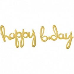 Pallone Happy B-Day Oro 190x68 cm