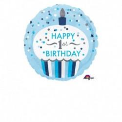 Pallone 1° Birthday Bimbo 45 cm