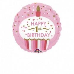 Pallone 1° Birthday Bimba 45 cm
