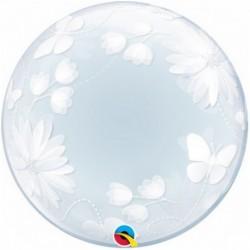 Pallone Deco Bubble Floreale 50 cm.