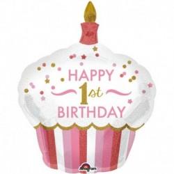 Pallone 1° Birthday Bimba 90 cm