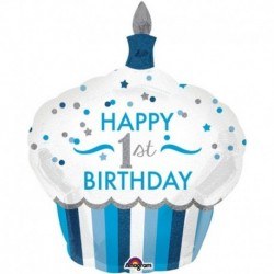 Pallone 1° Birthday Bimbo 90 cm