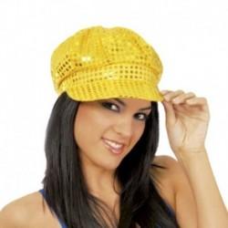 Cappello Berretto Pailettes Oro