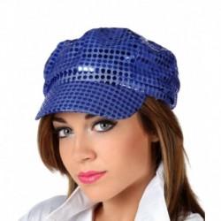 Cappello Berretto Pailettes Blu