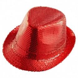 Cappello Paillettes Rosso