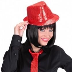 Cappello Borsalino Paillettes Rosso
