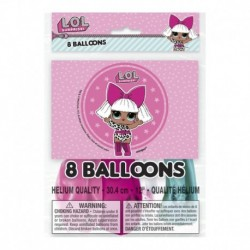 8 Palloncini Lattice LOL 24 cm