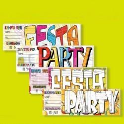 15 Inviti Blocchetto Festa Party