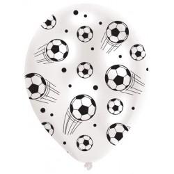 6 Palloncini Lattice Calcio 24 cm