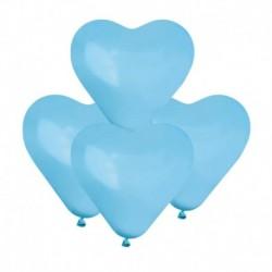 Palloncini Cuore Azzurri 15 cm