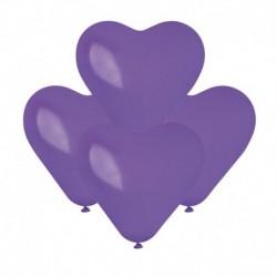Palloncini Cuore Viola 15 cm