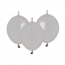 Palloncini Metallic Link Argento 12 cm