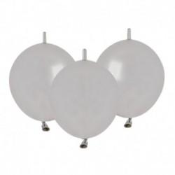 Palloncini Metallic Link Argento 30 cm
