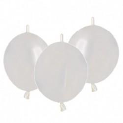 Palloncini Metallic Link Bianco 30 cm