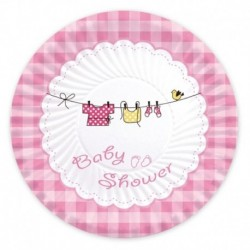 10 Piatti Carta Baby Shower Girl 18 cm