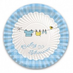 10 Piatti Carta Baby Shower Boy 18 cm