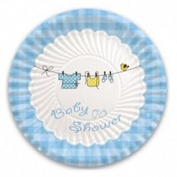 10 Piatti Carta Baby Shower Boy 18 cm