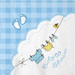 20 Tovaglioli Carta Baby Shower 33x33 cm