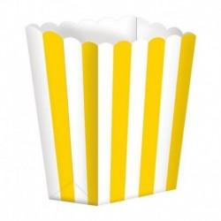 5 Contenitori Popcorn Gialli 9x13 cm