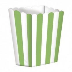 5 Contenitori Popcorn Verde Lime 9x13 cm