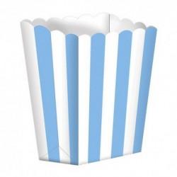 5 Contenitori Popcorn Azzurri 9x13 cm